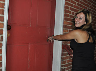 Lauren at the Jennie Wade House in Gettysburg
